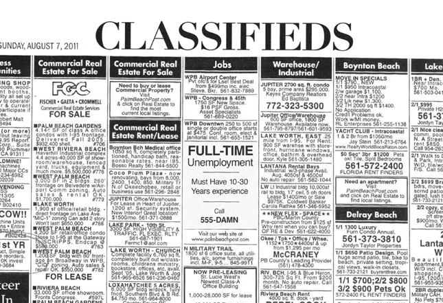Advantages of Classified Ads | Real Estate Classifieds